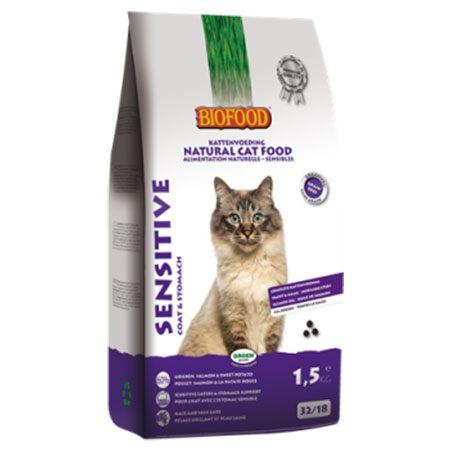 Kattenvoer Biofood Sensitive 1,5 kg