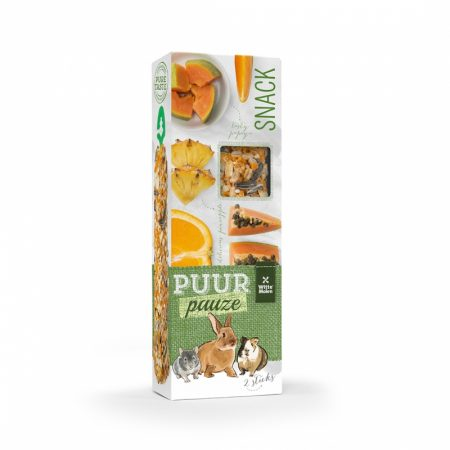 PUUR Pauze Knaagsticks Sinaasappel & Papaja